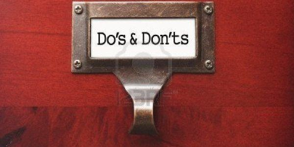 Losing my religion - dos and don'ts