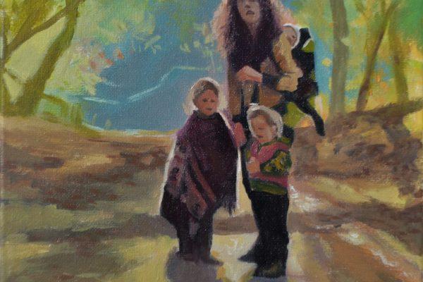 Vrouw en kinderen