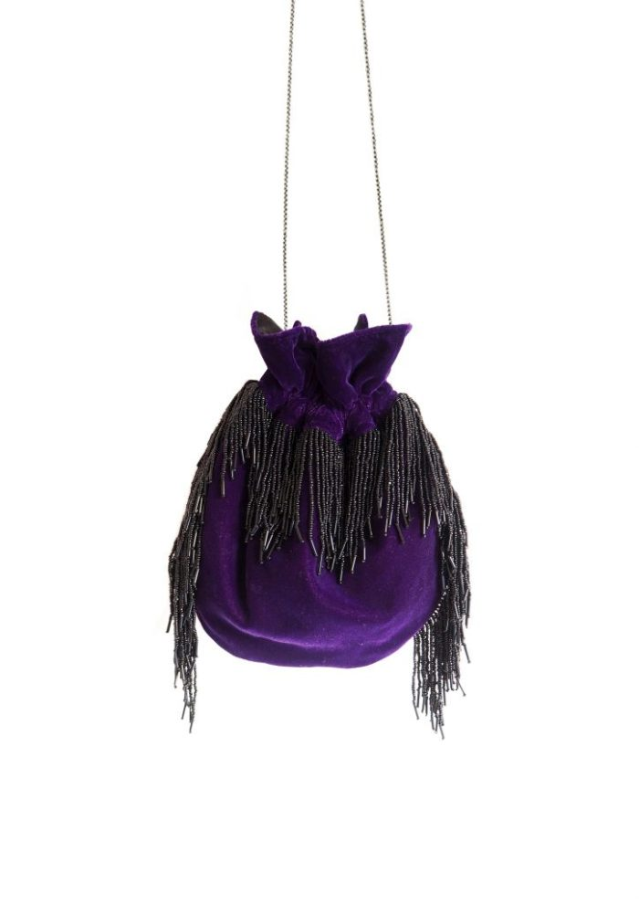 HERMINA x STYLELOVE -Medusa Bag – Small Mauve Velvet