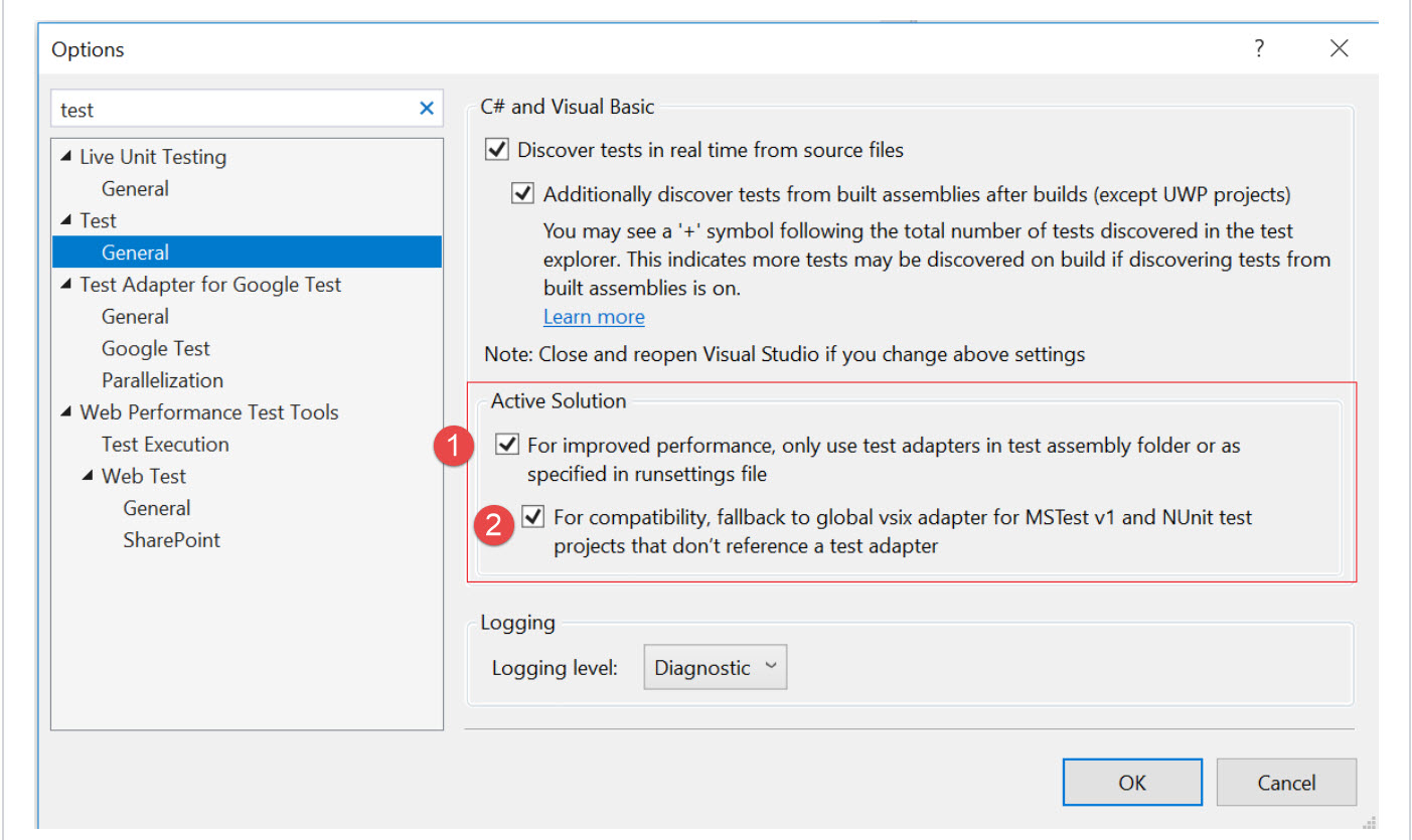 VSIX based Test Adapters to be deprecated in Visual Studio for C#