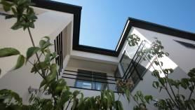 千葉 注文住宅 新築 中庭の外観