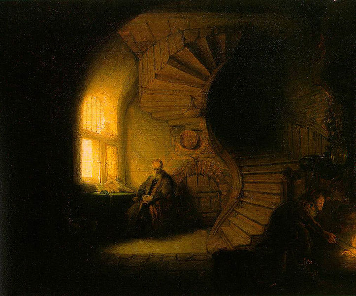 723px-Rembrandt_-_The_Philosopher_in_Meditation_(cleaned)