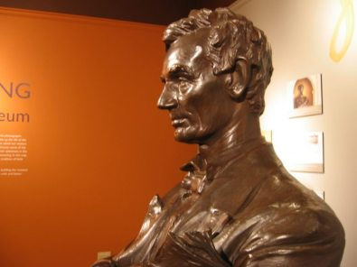 July 21, 2011. The restored bust on display at the Spurlock Museum. MacNeil's Lincoln bust is beautifully restored on public display in the Spurlock Museum