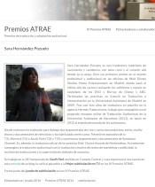 Bio as ATRAE Award winner