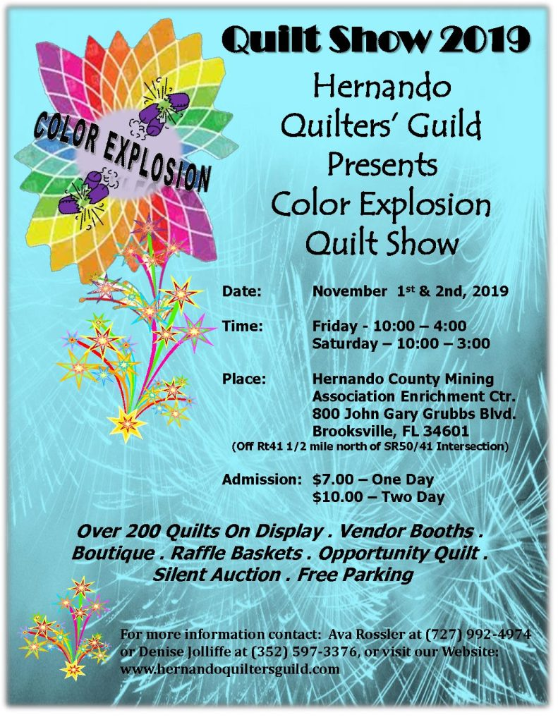 2019 Color Explosion Quilt Show – Hernando Quilters Guild