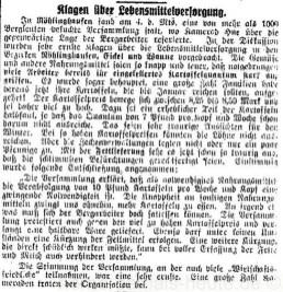 Bericht über Röhlinghausen in der Bergarbeiterzeitung vom 17.11.1917, Repro Norbert Kozicki