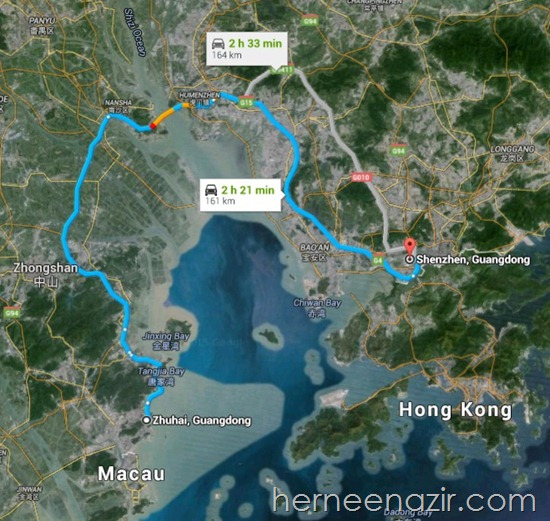 zhuhai to shenzen