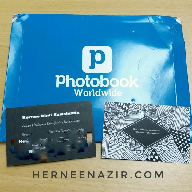 Name Card Photobook Malaysia Dah Sampai.. Yeay ...