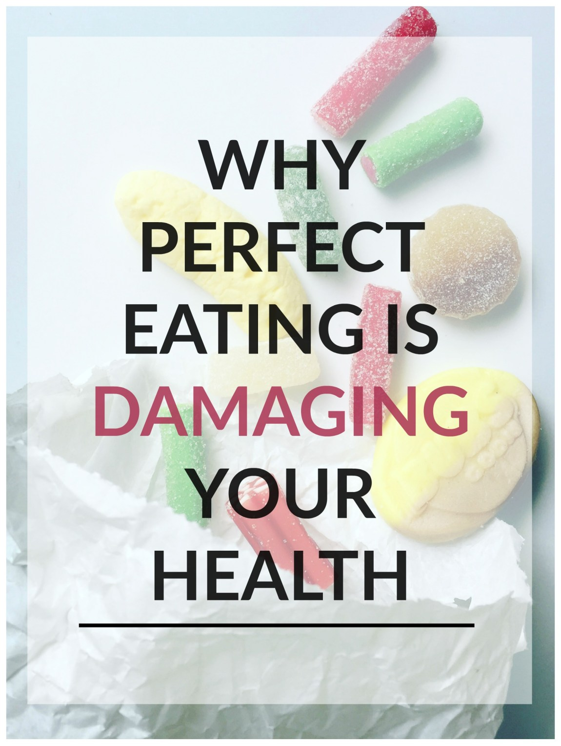 Seeing, living and breathing perfect eating all the time is damaging your (mental) health. Behind the highlight reels is balance, not perfect eating.