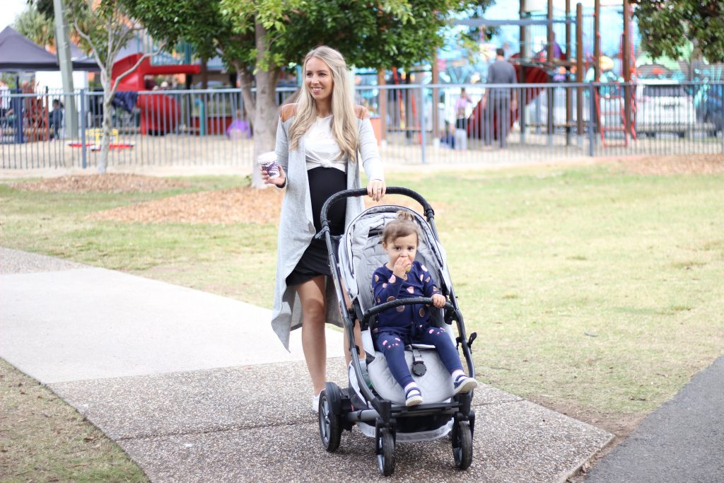 What better way to test out a pram than to take it to the busiest Sunday spot with two wild children and navigate through crowds followed by an off-road 'keep up with me mum' stroll through sand and grass. Here's my review of the Redsbaby Pram.