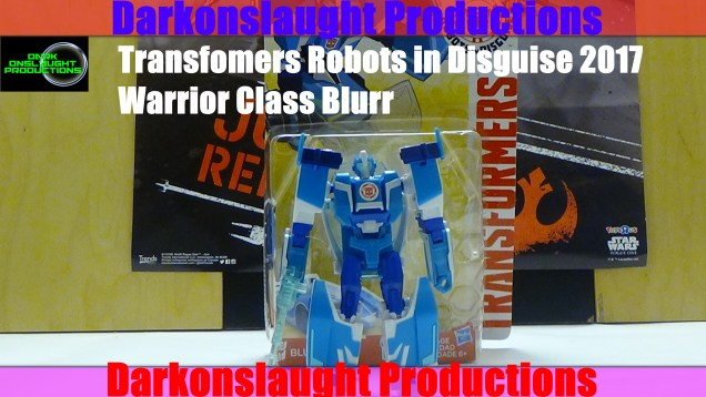 Transformers Robots in Disguise 2017 Warrior Class Blurr Review Cover