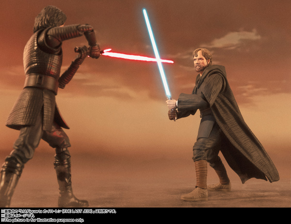 Official Images S H Figuarts Luke Skywalker Battle Of Crait Ver Star Wars Episode Viii The Last Jedi Hero Club