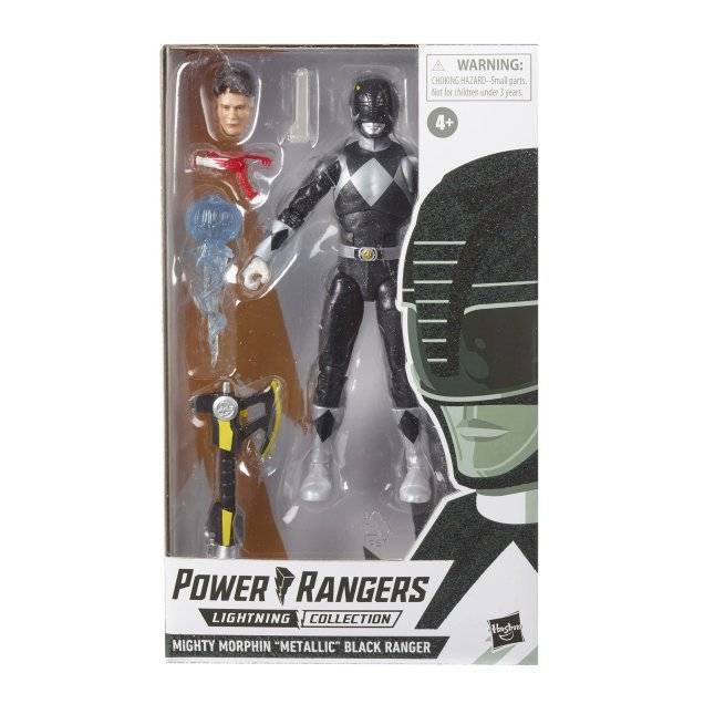 Hasbro Pulse Power Rangers Lightning Collection Metallic Black Ranger 3