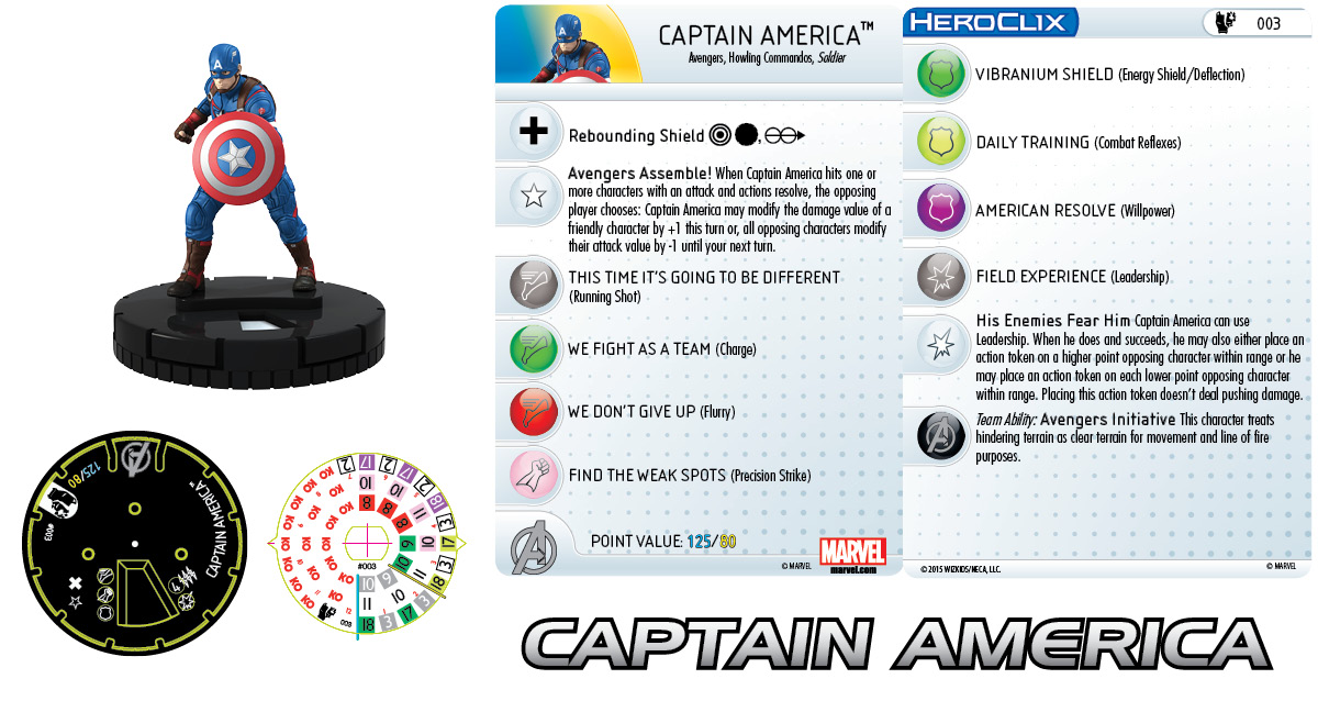 Marvel HeroClix: Age of Ultron Captain America