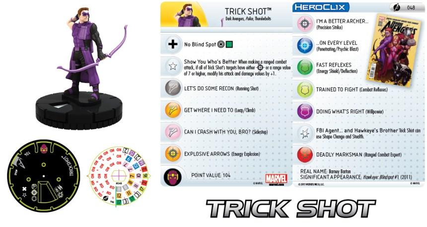 Marvel HeroClix: Avengers Assemble- Trick Shot