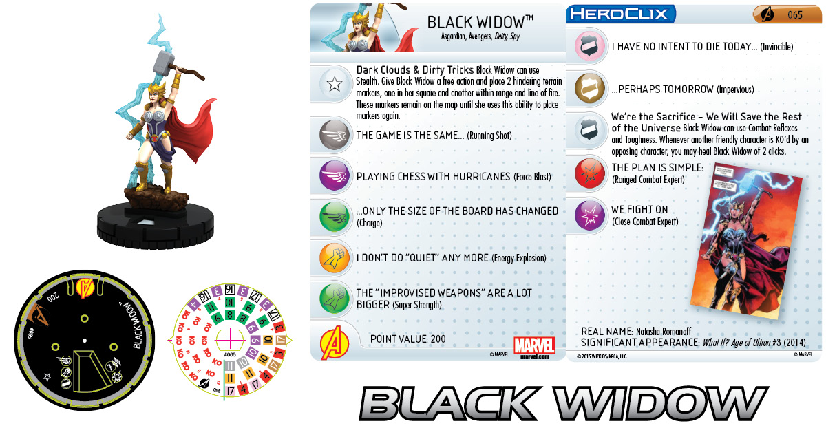 Marvel HeroClix: Avengers Assemble- Black Widow Chase