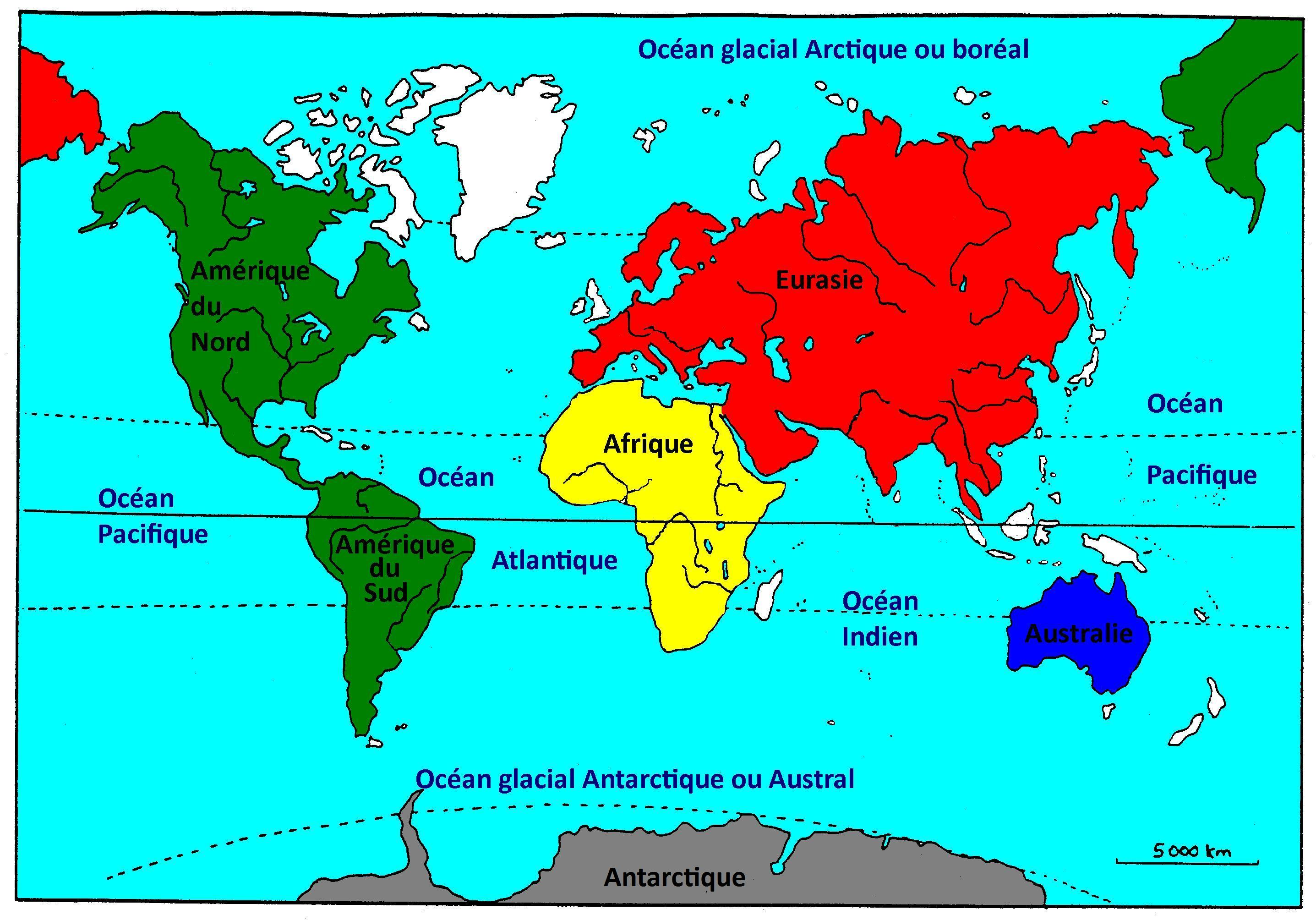 Continents Et Oceans