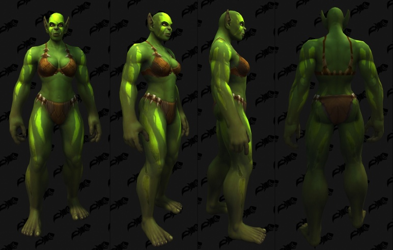 Body Tattoos - Female Orc 02
