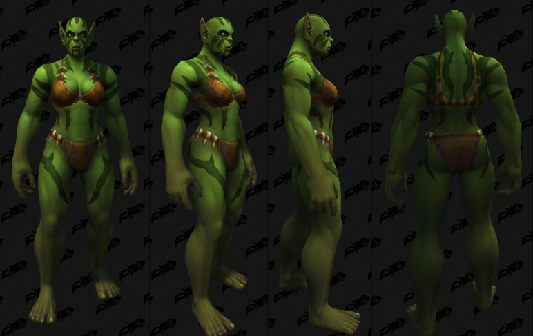 Body Tattoos - Female Orc 05