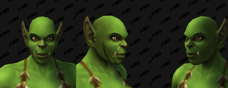 Face Tattoos - Female Orc 02