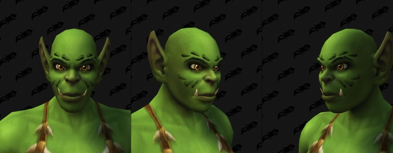 Face Tattoos - Female Orc 03