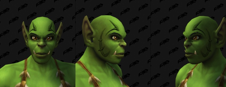 Face Tattoos - Female Orc 08