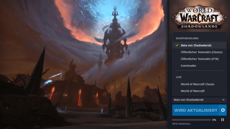 Die Shadowlands Beta ist gestartet