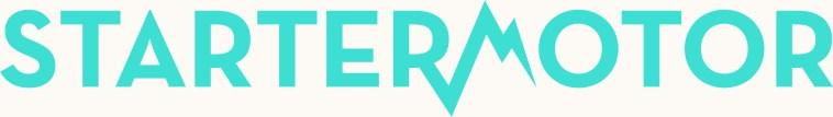 StarterMotor_Logo_Electric BluewithHEROcolourbackground