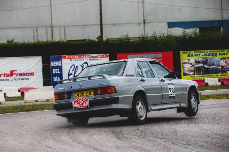 """HERO-ERA Classic Marathon 2021. """"38 Malcolm Dunderdale + Anita Wickens , Mercedes 190"""" The event that started the classic rallying scene back in 1988, travels through Northern Spain and Portugal in its latest incarnation."""