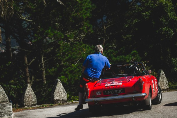 """HERO-ERA Classic Marathon 2021. """"27 Jayne Wignall + Kevin Savage , Sunbeam Tiger"""" The event that started the classic rallying scene back in 1988, travels through Northern Spain and Portugal in its latest incarnation."""