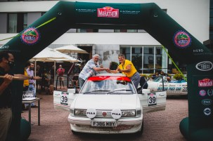 """HERO-ERA Classic Marathon 2021. """"39 Rodney Hanson + Clare Grove , MG Maestro 2L EFI"""" The event that started the classic rallying scene back in 1988, travels through Northern Spain and Portugal in its latest incarnation."""