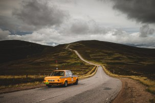 """Scottish Malts 2021,""""33 Tom Hayes + Chris Visosky , BMW 2002tii"""" , day 2, Atholl Palace Hotel, Pitlochry to Kingsmills Hotel, Inverness."""