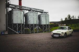 "Scottish Malts 2021, ""42 Doug Carmichael + John Gearing , MG B GT V8"", day 2, Atholl Palace Hotel, Pitlochry to Kingsmills Hotel, Inverness."