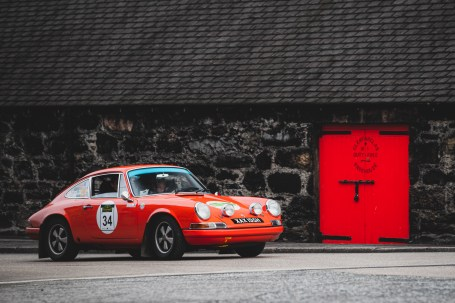 """Scottish Malts 2021, """"34 Daniel Gresley + Elise Whyte , Porsche 911 2.2S (A&D)"""", day 2, Atholl Palace Hotel, Pitlochry to Kingsmills Hotel, Inverness."""