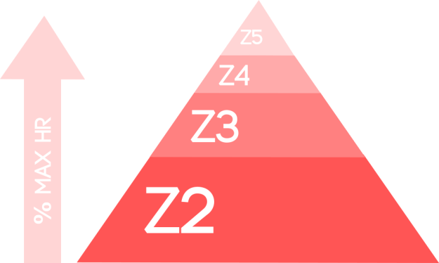 Zone 2 Training pyramid