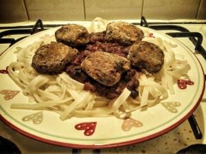 Glutenfree, vegan aubergine meatballs