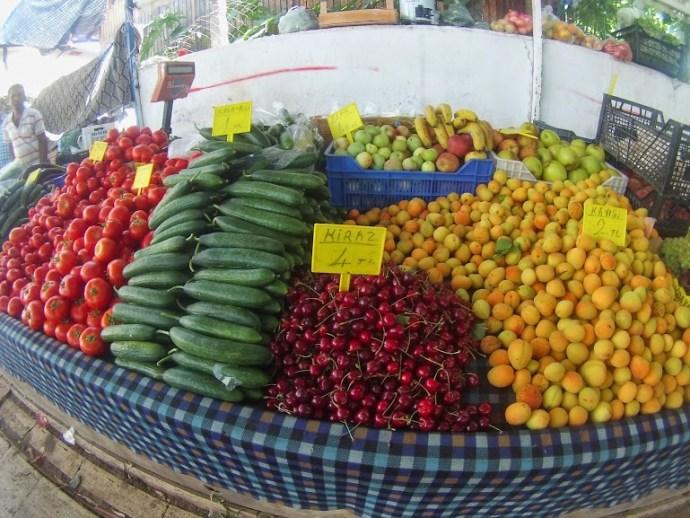 Turkish fruit market