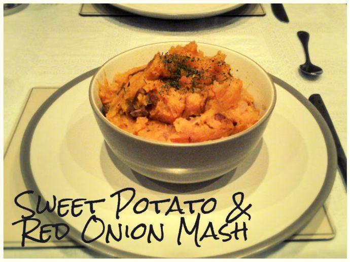 Sweet potato and onion mash