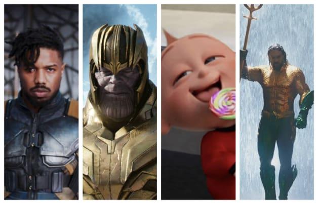 Superhero Cinema 2018 Black Panther Avengers Thanos The Incredibles Aquaman