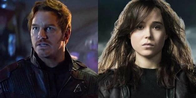 Chris Pratt Ellen Page Guardians X-Men