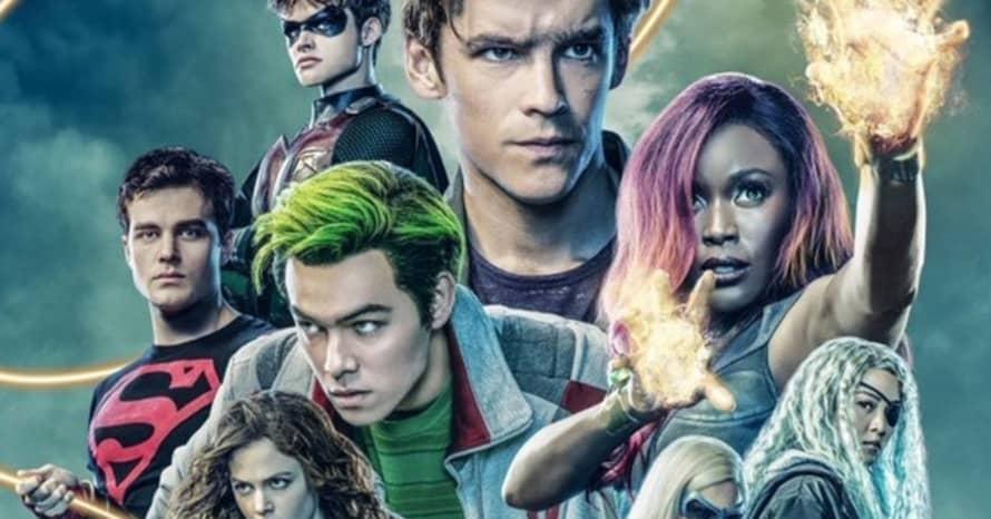 Titans Season 2 Poster Robin, Starfire, Beast Boy, Jason Todd, Superboy, Dove, Wonder Girl Batman Iain Glen Deathstroke Joshua Orpin Superboy DC Universe