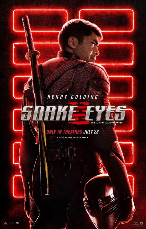 Snake Eyes G.I. Joe Origins Henry Golding Poster