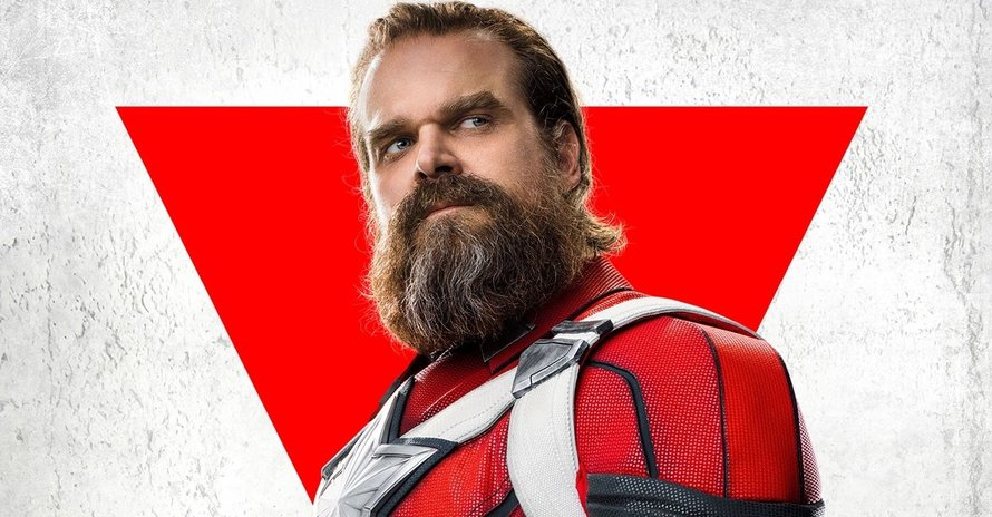 David Harbour Suits Up As Red Guardian Again In New 'Black Widow' Clip