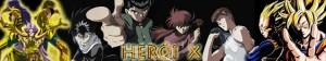 Heroi X banner original Yu Yu hakusho, cavaleiros do zodíaco e dragon ball z