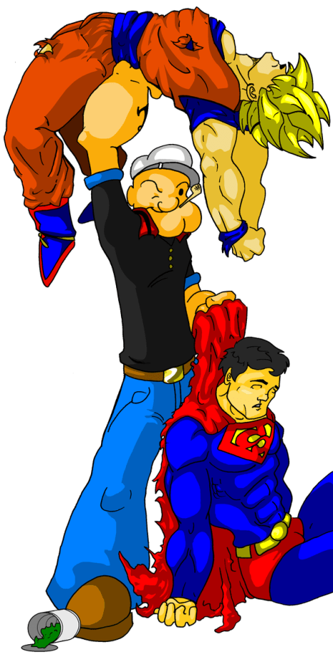 Superman vs Goku vs Popeye