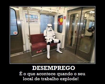 clone stormtrooper desempregado