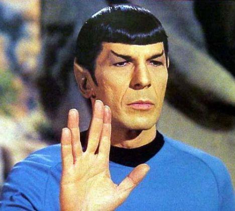 Spock sinal de mão