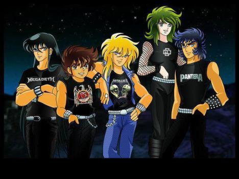 Cavaleiros do zodiaco metaleiros
