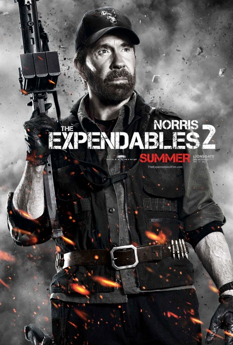 The Expendables 2 poster Chuck norris