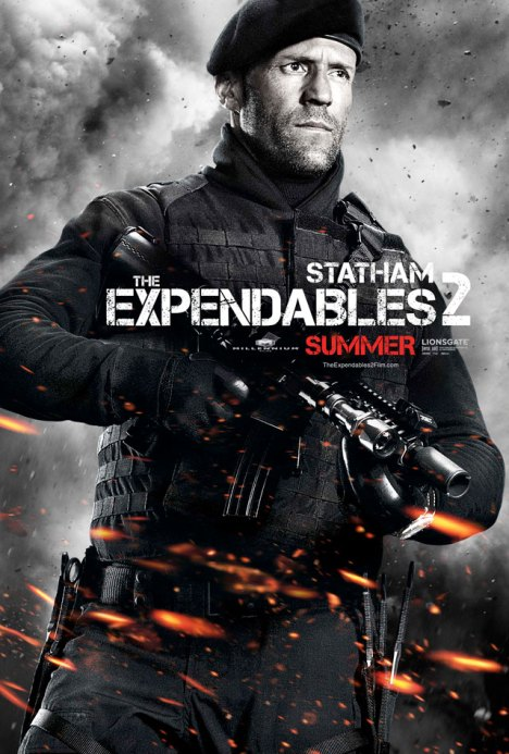 The Expendables 2 poster Jason Stathan